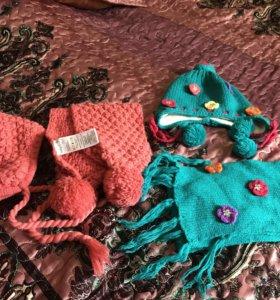 Комплект ( шапочка + шарф)