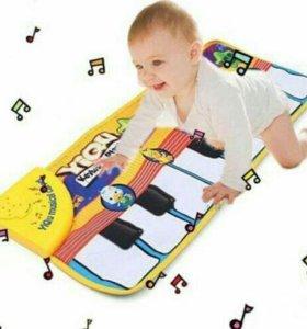 Детский коврик- пианино новый