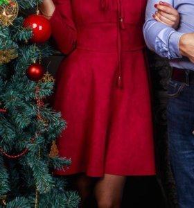 Платье бордо размер 42-44 (S)