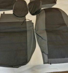 Чехлы из экокожи на передние сидения пежо