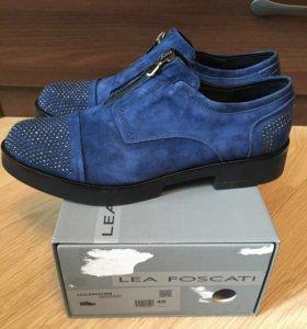 Новые ботинки Lea Foscati 40р синяя замша