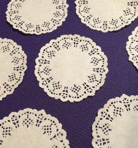Скрапбукинг бумажный декор салфетки кружевные