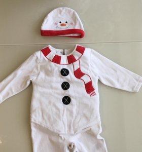 Флисовый костюм снеговика