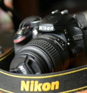 Фотоаппарат Nikon d3200 + объектив