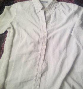 Блузка белая рубашка шифон Германия