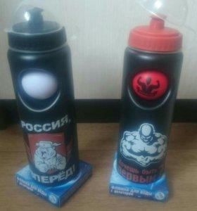 ШЕЙКЕРЫ спортивные (фляжки для воды с дозатором)