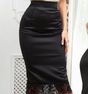 Новая юбка с кружевом 44-46