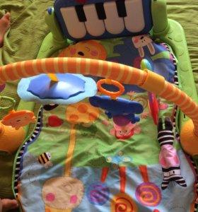 Детский развивающий коврик с пианино