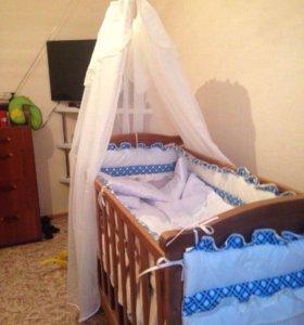 Кроватка+ матрац