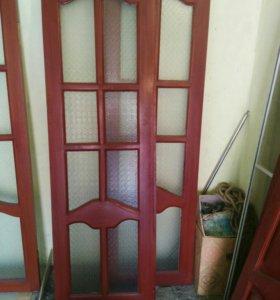 Двери из дерева с остеклением