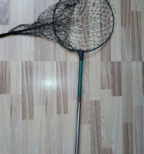 Сачок телескопический для ловли рыбы