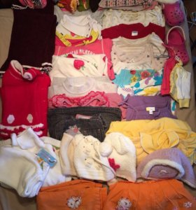 Пакет вещей для девочки от 1 года (45 шт)+обувь