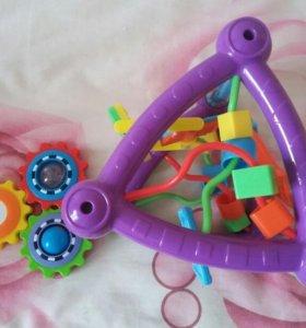 Развивающие игрушки треугольник и веселое солнышко