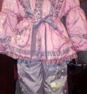 Детская курточка с комбинезоном рост 104-110