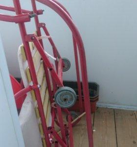 Санки с откидными колесами