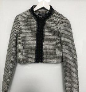 Твидовый укорочённый пиджак