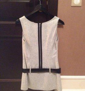 женская жилетка - платье на молнии  (безрукавка)