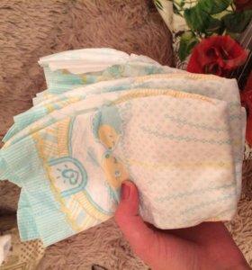 Памперсы для новорожденного , новые!