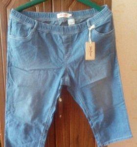Новые джинсовые бриджи 56р