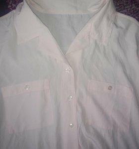 Нежно розовая блузка шифон