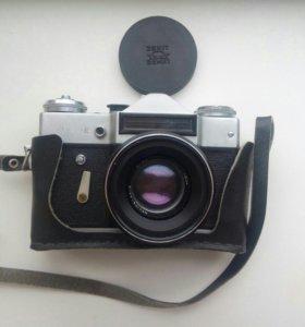 Фотоаппарат Зенит со вспышкой