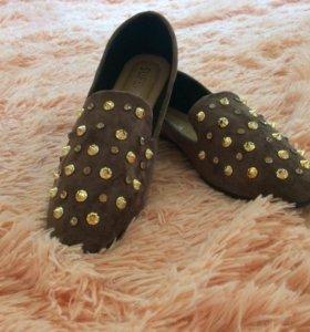 Туфельки замша новые