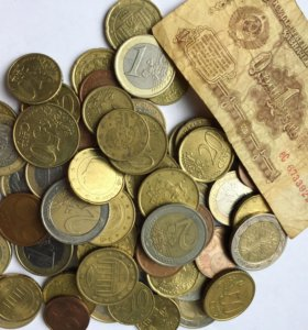 Монеты евро и евроцента