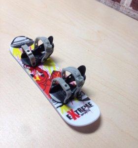 Фингер сноуборд с запасными частями и отвёрткой