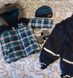 Куртка-парка и комбинезон на мальчика