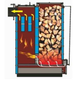 Пиролизный котел шахтного типа (8-16ч на дровах)