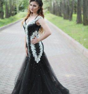 Вечернее платье , туфли лабутены