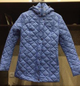 Куртка удлиненная утепленная голубая