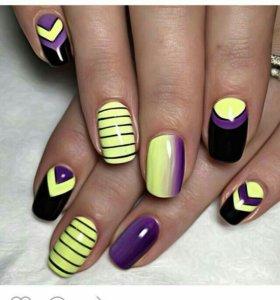 Ногти,шеллак,дизайн