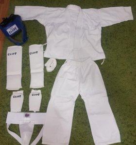 кимоно детское с защитой; перчатки