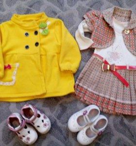 Весенние вещи и обувь на девочку