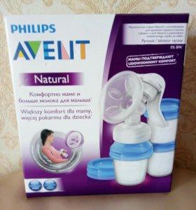 Молокоотсос Philips Avent Ручной с контейнерами