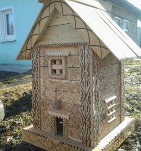 Мельницы, колодцы, домики