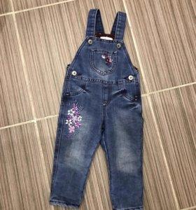 Комбинезон джинсовый с флисовым подкладом