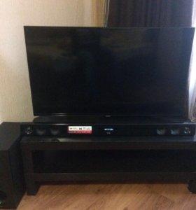 Телевизор+саунбар 300 вт