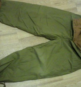 Брезенто-ватные штаны