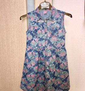Платье джинсовое р. 9-10 лет