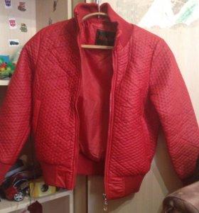 Куртка кож зам почти новая