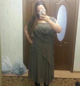 Платье натуральный шелк 50 размер