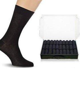50 шт. Мужские носки в коробке. Бизнес класса