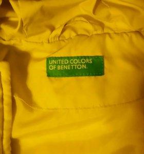 Куртка для девочки beneton на рост 128