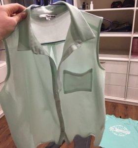 Рубашка женская мятного цвета