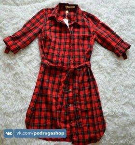 Платье-рубашка 42,44,46