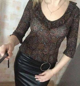 Блуза , Кофта с рюшами
