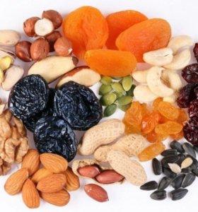 Орешки и сухофрукты