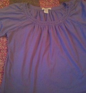 Блуза фиолетовая трикотаж